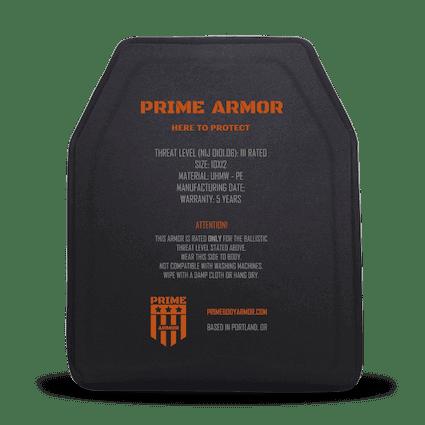 types of body armor plates